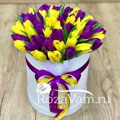 коробка из 49 тюльпанов
