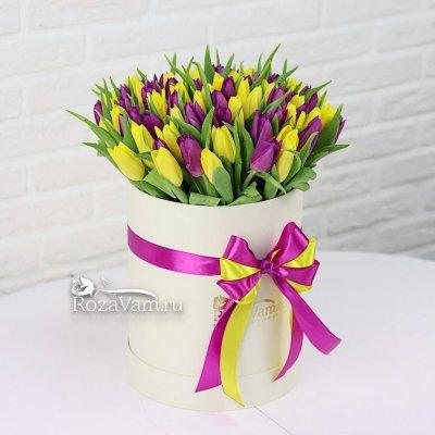 коробка из 75 тюльпанов