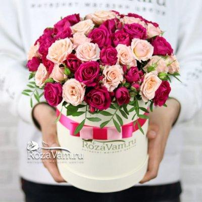 Коробка из кустовых роз