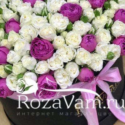 коробка ххl из кустовой розы