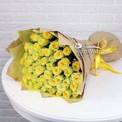 Букет из 51 жёлтой розы