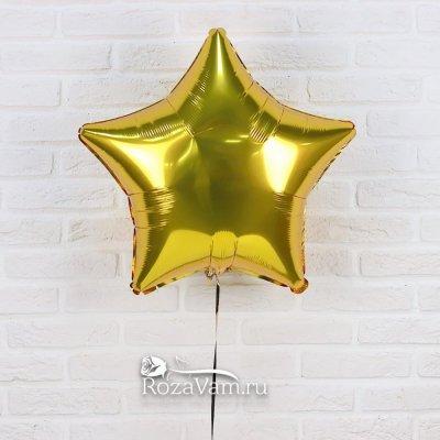 Шар звезда золотая