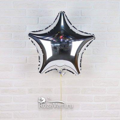 шар звезда серебряная