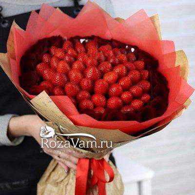 Клубничный букет розами