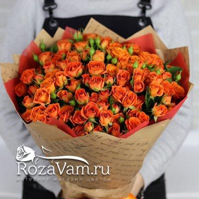 Букет из кустовых роз 25 шт