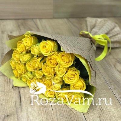 Букет из 29 желтых роз (50 см)