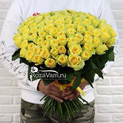 Букет из 101 жёлтой розы
