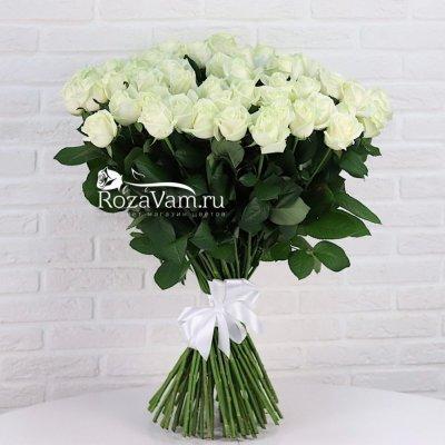 Букет из 75 белых роз ( 70 см )