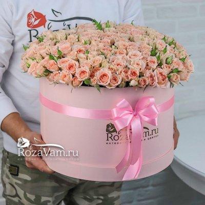 Коробка кустовых роз 101 шт