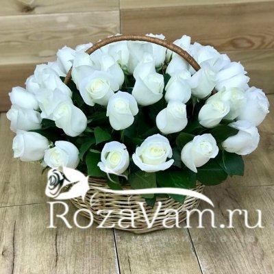 Корзина из 51 розы эквадор