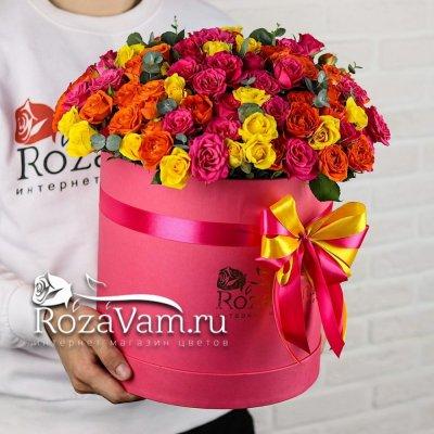 Коробка микс кустовых роз