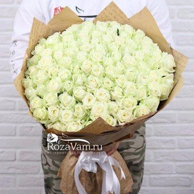букет из 101 белой розы (50см)