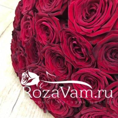 Букет из 29 красных роз 50 см
