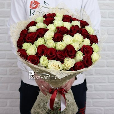 Букет из 51 розы микс Эквадор (60 см)