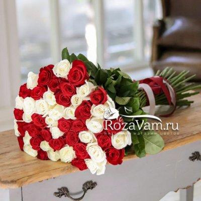 Букет из 51 розы микс Эквадор (70 см)