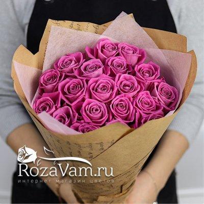 Букет из 19 розовых роз 50см