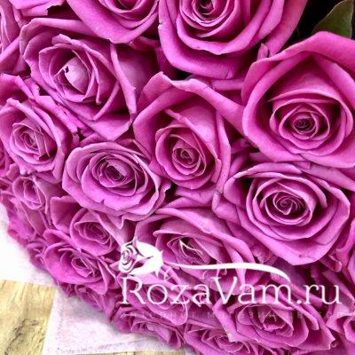 Букет из 29 розовых роз (50 см)