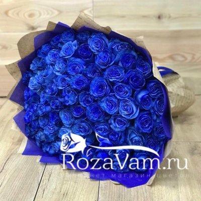 Букет из 75 синих роз