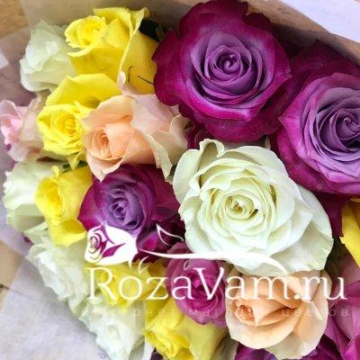 Букет из 51 розы эквадор микс
