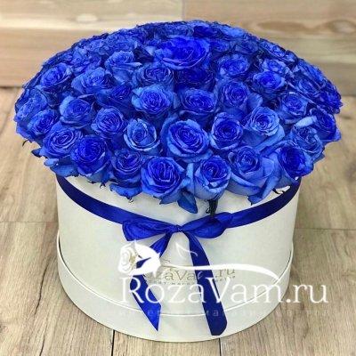 Коробка из 101 синей розы