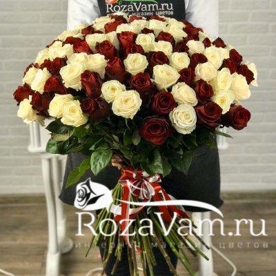 Букет из 101  розы микс эквадор (60 см)