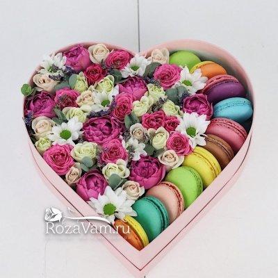 макаруны с цветами микс