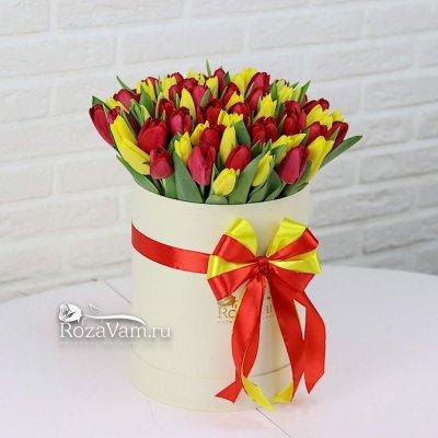 коробка из 75 тюльпана