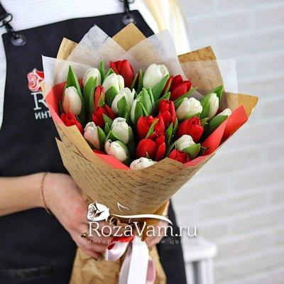 Букет из тюльпанов 25 шт