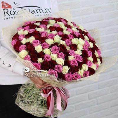 Букет из микс 151 розы ( 50 см )