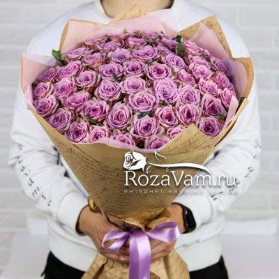букет из 51 сиреневой розы