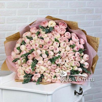 Букет пионовидных роз 101 шт