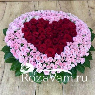 Сердце с розами в корзине