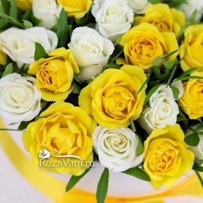 Коробочка из кустовых роз