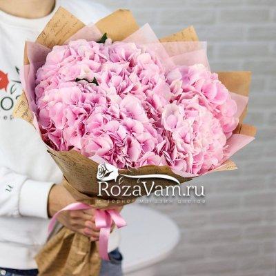 Букет из 7 шт розовых гортензий