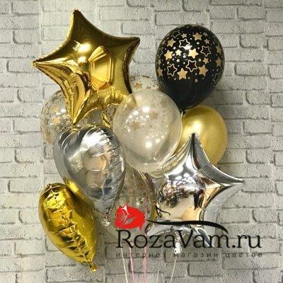 связка праздничных шаров №3