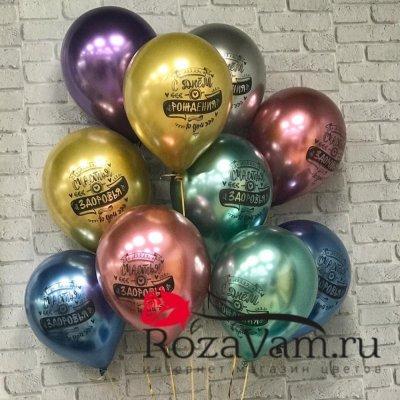 комплект шаров с днем рождения