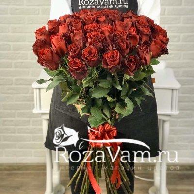букет из 51 красной розы эквадор (70 см)