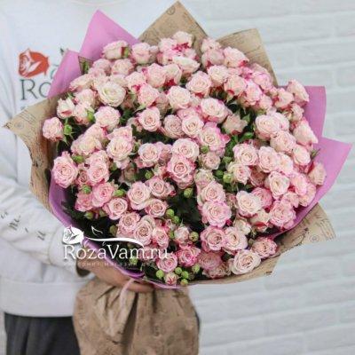 Букет из 25 кустовых роз Рефлекс 70 см