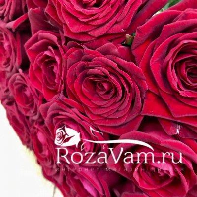 Букет из 29 красных роз (70 см)