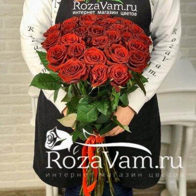 Букет из 29 красных роз (60 см)