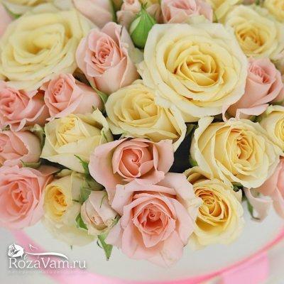 Коробка микс кустовых роз S