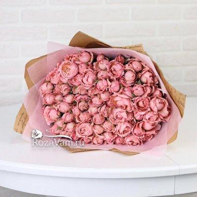 Букет пионовидных кустовых роз Джульета