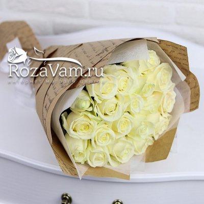 Букет из 19 белых роз (50см)