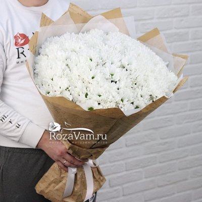 Букет из 35 кустовых хризантем