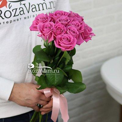 Букет из 11 розовых роз (50 см)