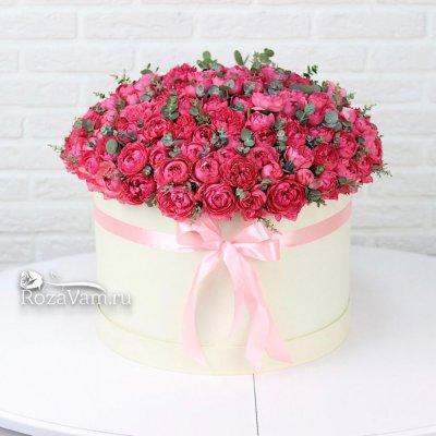 Коробка пионовидных кустовых роз ХXL