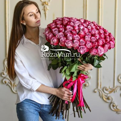 Букет из 101 розы Эквадор60 см