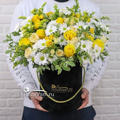 Авторская коробка с хризантемой