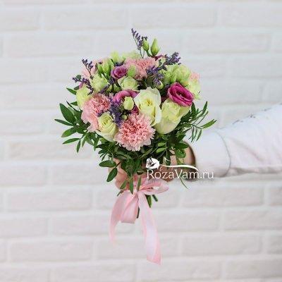Свадебный Букет с гвоздикой и розами