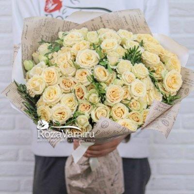 Букет из 15 кустовых роз Салинеро 70см